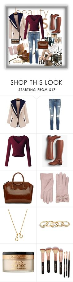 """""""Autumn"""" by keisznikolett ❤ liked on Polyvore featuring rag & bone/JEAN, LE3NO, Talbots, Givenchy, UGG, Chrysalis, GUESS and Too Faced Cosmetics"""
