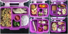 Healthy Lunchbox Ideas from Holley Grainger Nutrition. Nice to see healthy packed lunches! I want to try the couscous with veggies and feta Lunchbox Kids, Bento Box Lunch For Kids, Kids Lunch For School, Healthy School Lunches, Lunch Snacks, Lunch Ideas, Lunch Box Recipes, Baby Food Recipes, Yummy Recipes