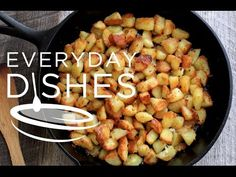 Whether you make this savory side dish for breakfast or dinner, these oven-roasted potatoes are hearty, crispy then dusted with the seasonings you love! Potato Recipes, Snack Recipes, Cooking Recipes, Snacks, Vegetable Pasta, Vegetable Side Dishes, Everyday Dishes, Everyday Food, Oven Fried Potatoes