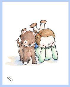 Children Art Print Pals Forever PRINT 8X10 Nursery by LoxlyHollow, $24.00