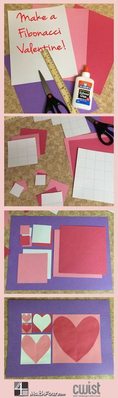 It's time for math and love to intersect again! Create a math craft for Valentine's Day! ~Bon