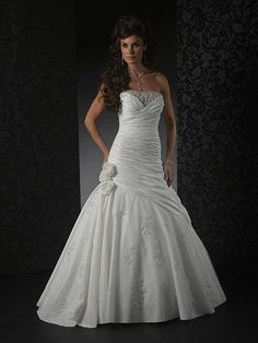 Flower Taffeta Lace Wedding Dresses For Bridal Bridal Dress Shops, Wedding Gowns, Lace Wedding, Dress For You, Online Boutiques, Custom Made, Marie, Mom, Formal Dresses