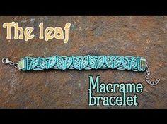 Macrame leaf bracelet tutorial How to make leaf pattern macrame armlet - YouTube