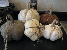 Pumpkin Tutorial by My Desert  - this is a sewn pumpkin, best suited to be made with all one fabric per pumpkin