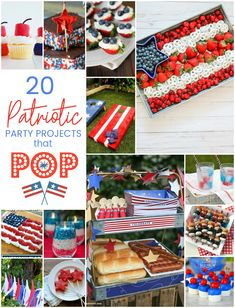 20 Fourth of July Party Ideas that POP! food, party and activities 20 Fourth of July Party Ideas that POP! The Fourth of July is such a fun holiday to spend with family and friends! Here are some easy food, party and activity ideas for the Fourth of July! Desserts To Make, Great Desserts, Party Desserts, Party Recipes, Summer Desserts, Keto Recipes, Healthy Recipes, Fourth Of July Food, 4th Of July Party