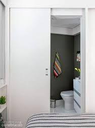 Resultado de imagem para porta de correr embutida no painel quartos