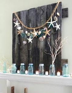 Seashell Craft & Decoration Ideas: Seashell Garland/Rope Display