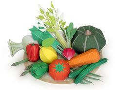 Kirin Vegetable Papercraft | Papercraft Paradise | PaperCrafts | Paper Models | Card Models