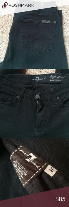 7 For All Mankind Jeans Black, high waisted, skinny 7 For All Mankind Jeans 7 For All Mankind Jeans Skinny