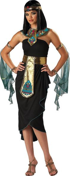 Adult Cleopatra Black Costume - Party City