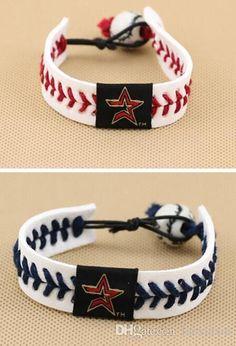 Major League Baseball Weaving Porcelain Beads Leather Bracelets Bracelets Houston Astros Baseball Silver Bracelets For Women Charms For A Charm Bracelet From Luoxiuxiu, $80.67| Dhgate.Com