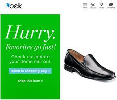 Belk Cart Abandonment Email