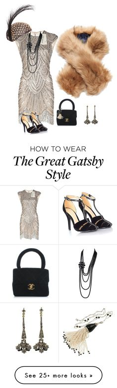 """20s glamour"" by phoebemai on Polyvore featuring Mode, Joules, Sweet Romance, Missguided und Chanel"