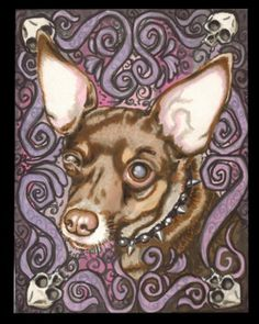 Pet Portrait Shayne of the Dead style OOAK by ShayneoftheDead, $50.00