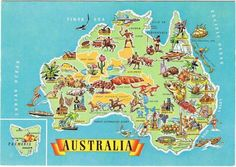 Australia Tasmania Australia, Australia Map, Australian Christmas Cards, Australia Country, The Wombats, Tourist Map, How Lucky Am I, Travel Maps, Cartography
