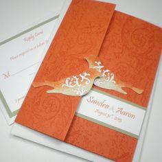 For ceremony ideas pinterest.com/... ... orange wedding invitation
