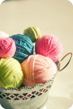 Display your little balls of yarn in a cute basket for a pop of color in your room. (Plus, you'll want to crochet all the time too!)