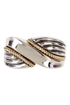 Dani G Jewelry 14K Yellow Gold & Sterling Silver Rope Ring