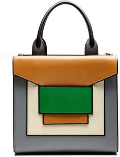Shop Blue, White, Green And Biege Tote. Walk through dimensions in this multi-level Pierre Hardy green, white and biege with blue background tote. Blue Handbags, Purses And Handbags, Leather Handbags, Cheap Handbags, Luxury Handbags, Green Handbag, White Handbag, Pierre Hardy, Crea Cuir