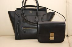 Two staples, Celine luggage and Celine Box. MATCH MADE IN HEAVEN