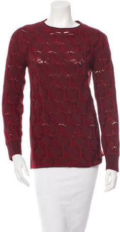 Thakoon Wool Pattern Sweater Crewneck Sweaters, Wool, Stylish, Blouse, Pattern, Fashion, Moda, Fashion Styles, Blouses