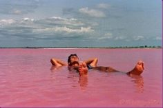 Pink Lake (Lake Retba) or Lac Rose lies north of the Cap Vert peninsula of Senegal , north east of Dakar. It is so named for its pink wat. Places Around The World, Oh The Places You'll Go, Places To Travel, Places To Visit, Around The Worlds, Travel Destinations, Lac Rose Senegal, Lake Retba Senegal, Pink Lake