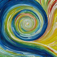 Rhythm. Art. The swirl in this painting communicates a steady rhythm.