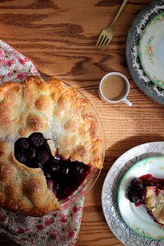 themountainlaurel:  Double crust cherry pie by Joy the Baker