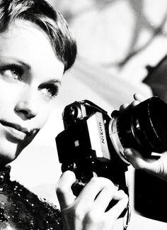 Mia Farrow & camera star of Rosemary's Baby (please follow minkshmink on pinterest)