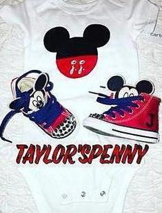 4dac140d3313 Boys Mickey Mouse Sneakers   Onesie. Bling ConverseKids ConverseBaby ...