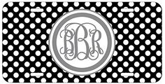 Personalized Monogrammed Polka Dot Black Grey Vine License Plate Auto Tag Top Craft Case http://www.amazon.com/dp/B00OMQDLMM/ref=cm_sw_r_pi_dp_aEotub10G0VT9