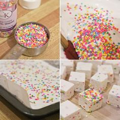 Confetti Marshmallows... the boss was just asking for marshmellow this morning