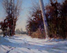 A Winter Walk by Barbara Jaenicke Pastel ~ 11 x 14 Pastel Landscape, Landscape Paintings, Winter Painting, Winter Walk, Oil Painters, Pastel Art, Types Of Art, Fine Art Gallery, Artwork