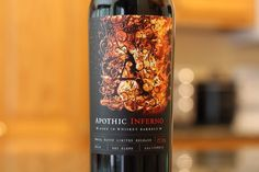 Apothic Inferno from Modesto, California - Aged in Whiskey Barrels and you can tell.  Click to read my review.