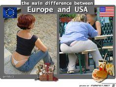 lustiges Bild 'europe vs america.jpg'- Eine von 1017 Dateien in der Kategorie 'in Englisch' auf FUNPOT.