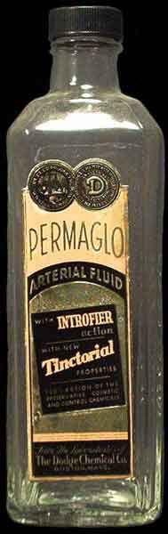 Embalming fluid bottle