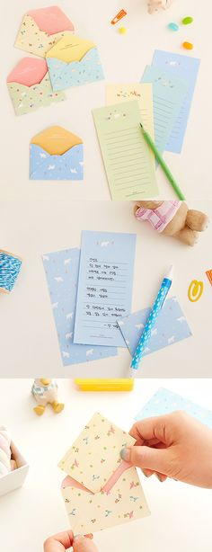 Everybody texts, but that's no fun! Send your short and important messages with this cute and adorable Ardium Cute Letter Set!