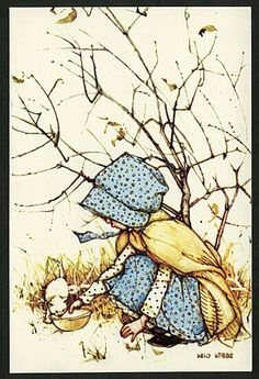Holly Hobbie ~ kindness to animals ~ kitten & milk