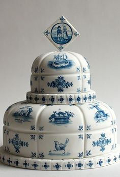 ? dutch wedding cake? repin - couldn't find the pic on Brides.com....