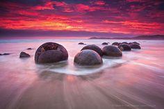 Les galets Moreaki - Nouvelle Zélande