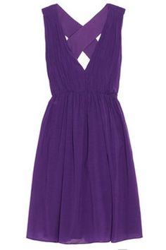 who wouldn't die for this purple pleated Alice + Olivia dress?