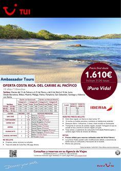 Oferta Costa Rica:Del Caribe al Pacífico. 10 noches. Del 15Feb al 18Jun. Precio final desde 1.610€ ultimo minuto - http://zocotours.com/oferta-costa-ricadel-caribe-al-pacifico-10-noches-del-15feb-al-18jun-precio-final-desde-1-610e-ultimo-minuto/