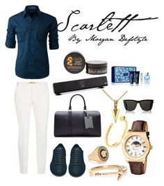 """""""Scarlett"""" by morgan-defstyle on Polyvore featuring LE3NO, Topman, Yves Saint Laurent, Versace, Salvatore Ferragamo, MIANSAI, Mateo, Ted Baker, Billy Jealousy and men's fashion"""