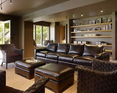 Brown Leather Couches Design, Pictures, Remodel, Decor and Ideas