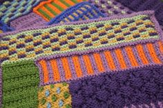 Knitting Tutorial - How to knit a Colorwork afghan for beginners - from Craftsy Blog.