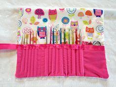 Crochet hook case Owl design on Etsy, $22.00