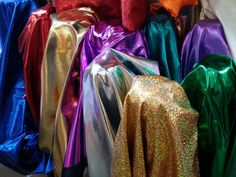 Electric shiny mirror foil fabric dress making decorations capes Shiny Mirror Foil liquid fabrics shiny Silky fabric supplies PER METRE