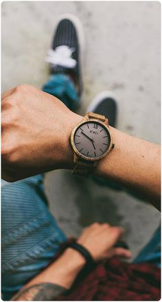 Enjoying the wait...| Photo @batangsmallville of IG | Find the watch, the Frankie Koa & Ash, at woodwatches.com - free shipping worldwide!