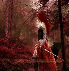Red Forest by Le-Regard-des-Elfes.deviantart.com on @DeviantArt