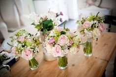 Beautiful flowers - these will be similar to mine, but with some additional blue flowers in my bridal bouquet